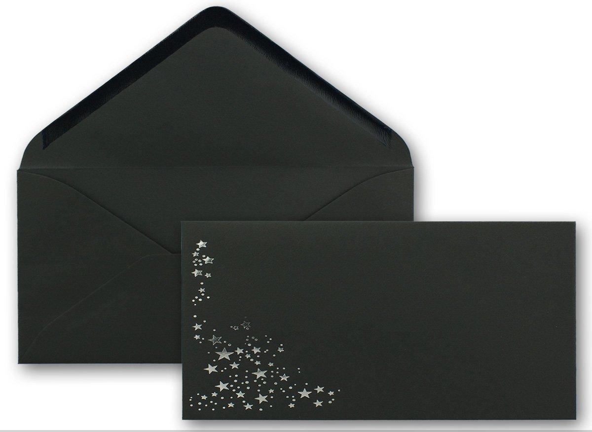 300x Weihnachts-Briefumschläge   DIN Lang Lang Lang   mit Gold-Metallic geprägtem Sternenregen   Farbe  dunkelrot, Nassklebung, 120 g m²   110 x 220 mm   Marke  GUSTAV NEUSER® B07CN7CYHG | Die Farbe ist sehr auffällig  | Überlegen  | New Style cf70f5