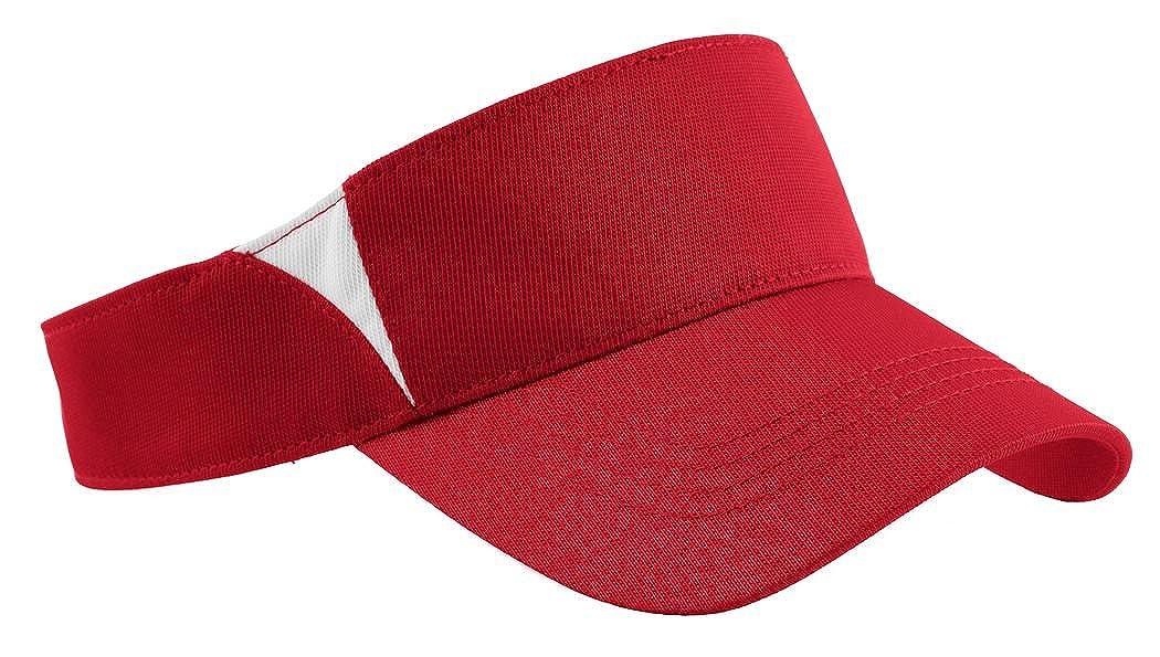 True Red//White Dry Zone Colorblock Visor Sport-Tek