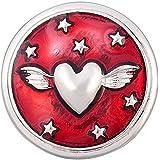 Andante bouton pression CHUNK (cœur) pour bracelets Chunk, bagues Chunk et d'autres accessoires Chunk