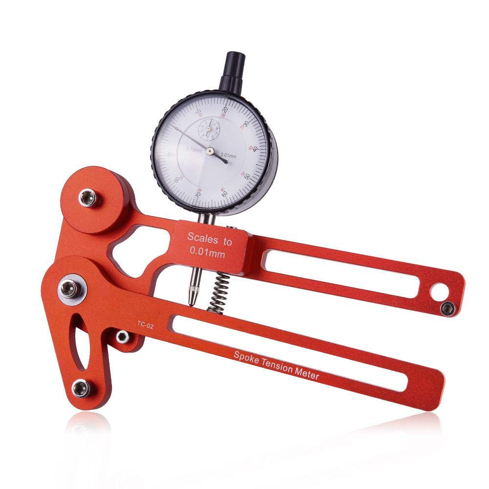 Auoker Digital Display Bicycle Spoke Tension Meter for ZTTO, Wire Tension Adjustment Stainless Steel Wheel Correction Brake Adjustment Tool Wheel Set Correction Rim Adjustment Tool by Auoker
