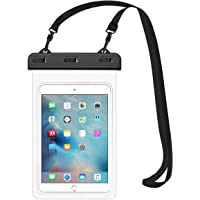 """HeySplash Waterproof Case, Underwater Tablet Dry Bag with Lanyard Compatible with iPad Mini 2019/4/3/2, Samsung Tab 5/4/3, Galaxy Note 8, Tab S2/Tab A 8.0/Tab E, Up to 8.3"""" - Clear"""
