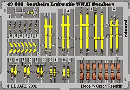 (Eduard Accessories-49003Model-Making Accessory Seatbelts Luftwaffe Ww. II Bombers)