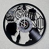Vinyl Record Wall Doctor Who Detective Film decor unique gift ideas Tardis for friends him her boys girls World Art Design