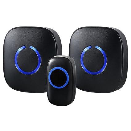SadoTech Model CXR Wireless Doorbell Chime, 1 Remote Button U0026 2 Plugin  Receivers Operating Over