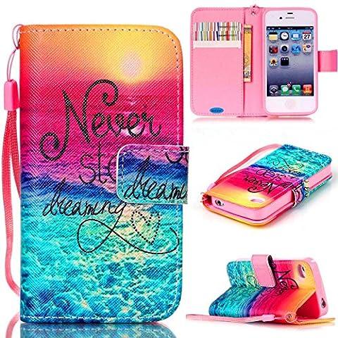 iPhone 4S Case,iPhone 4 Case,JanCalm [Wrist Strap Design][Kickstand] Pattern Premium