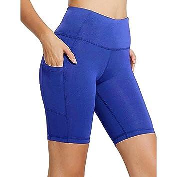 Gusspower Pantalón Corto Deportivo para Mujer, Running Pantalones de Yoga con Bolsillo Lateral, Fitness Mallas Deportivas y elásticos Polaina: Amazon.es: ...