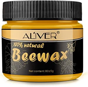 Wood Polish & Conditioner, Wood Seasoning Beewax - Conditioner for Wood & Furniture, Non Toxic for Furniture to Beautify & Protect, No Build-Up 80g-2.8 oz