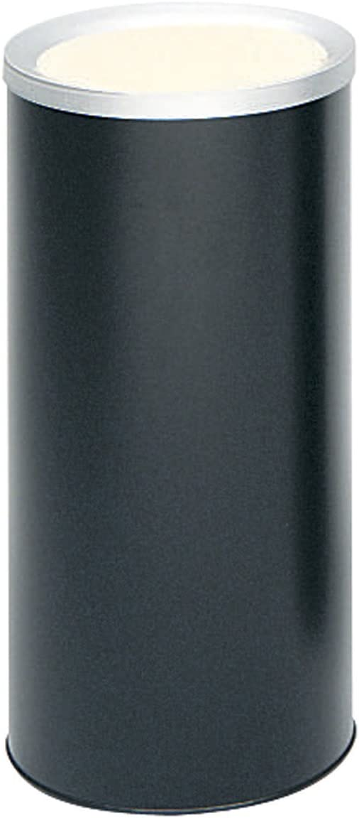 Safco Products 9698BL Ash Urn Smoker Trash Can, Black