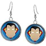 Classic Superman Minimalist Necklace, Justice League Pendant, Man of Steel Earrings, Suicide Squad The Dark Knight Pendant, DC Comics Jewelry, Wedding Party, Geek Gift Geeky Gifts Nerd Nerdy Presents