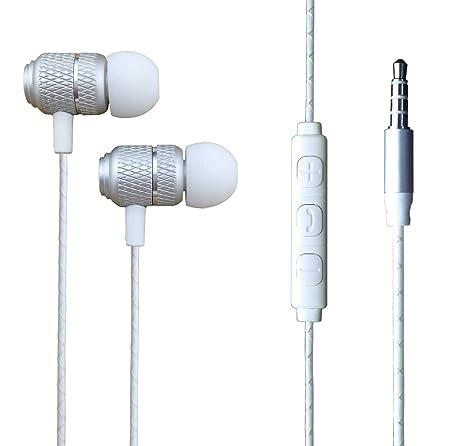 Samsung Galaxy A6 Plus (2018) - Auriculares de auriculares con aislamiento de ruido con clavija jack de 3,5 mm [mando a distancia y micrófono] fuerte sonido ...