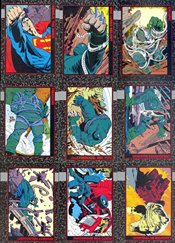 Battlestar Galactica Trading Cards - DOOMSDAY THE DEATH OF SUPERMAN 1992 COMPLETE BASE CARD SET & FUNERAL FOR A FRIEND SET DC
