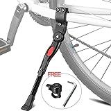 Pata de Cabra para Bicicleta, XiDe Aluminio Soporte Ajustable del Retroceso de Bici Caballete Bicicleta con Llave Hexagonal y Campana De Bicicleta