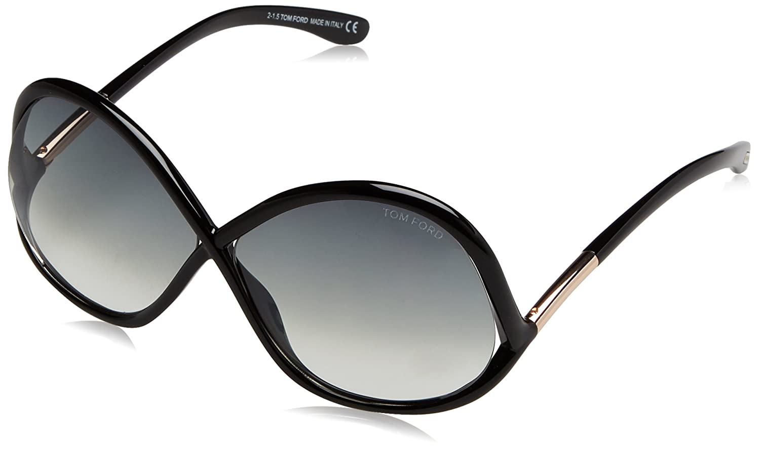 5087dbb5493a7 Tom Ford FT0372 01B Black Ivanna Butterfly Sunglasses Lens Category 2 Lens  Mirr at Amazon Men s Clothing store
