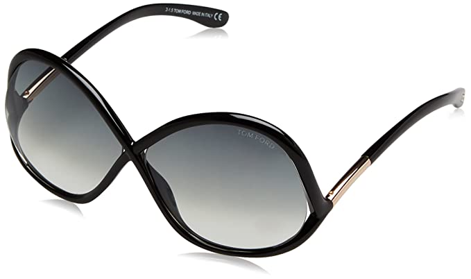 Amazon.com: Tom Ford ft0372 01B Negro Ivanna mariposa ...