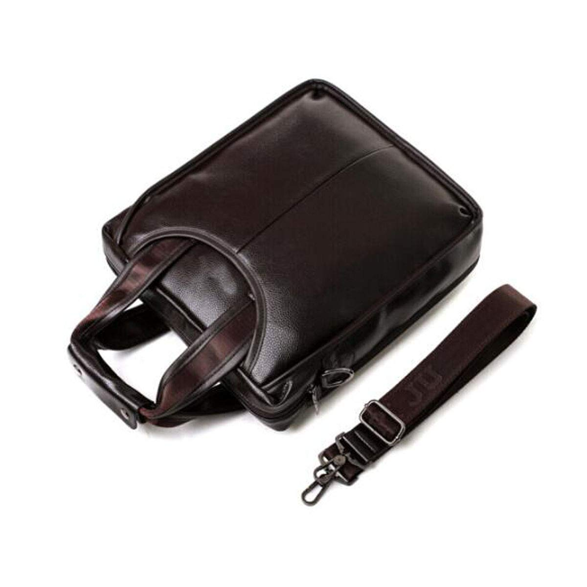 Portable Large-Capacity Leather Mens Bag Brown Chenjinxiang Briefcase New Boutique Mens Handbag Color : Brown Size: 279.531cm Concise
