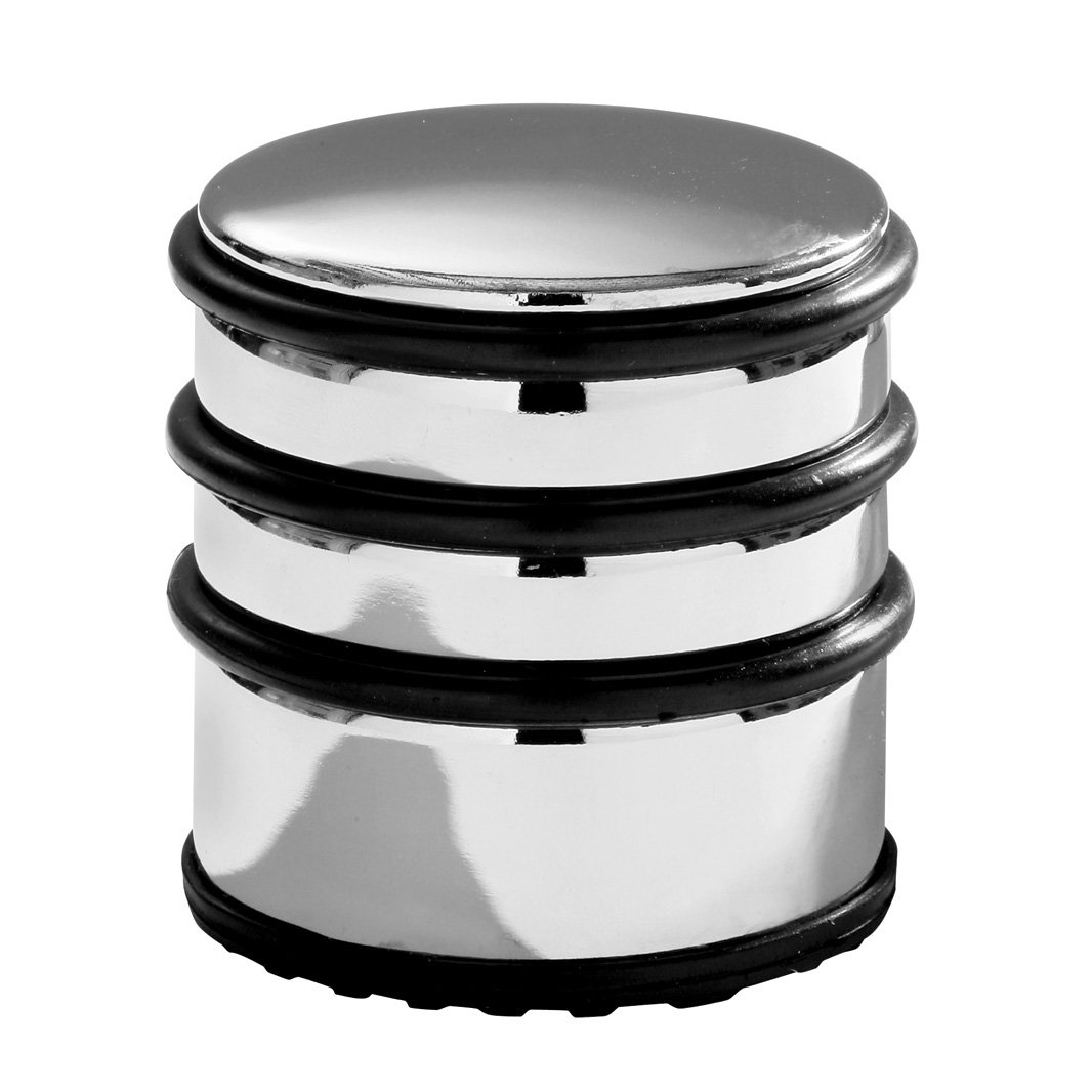 premier housewares chrome door stop with black rubber protective rings 8 x 7 x 7 cm amazoncouk kitchen u0026 home