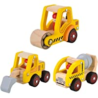 3 Pcs Wooden Cars Infant Toys Wooden Baby Toy Cars for Kids Wood Play Sets For Boys and Girls
