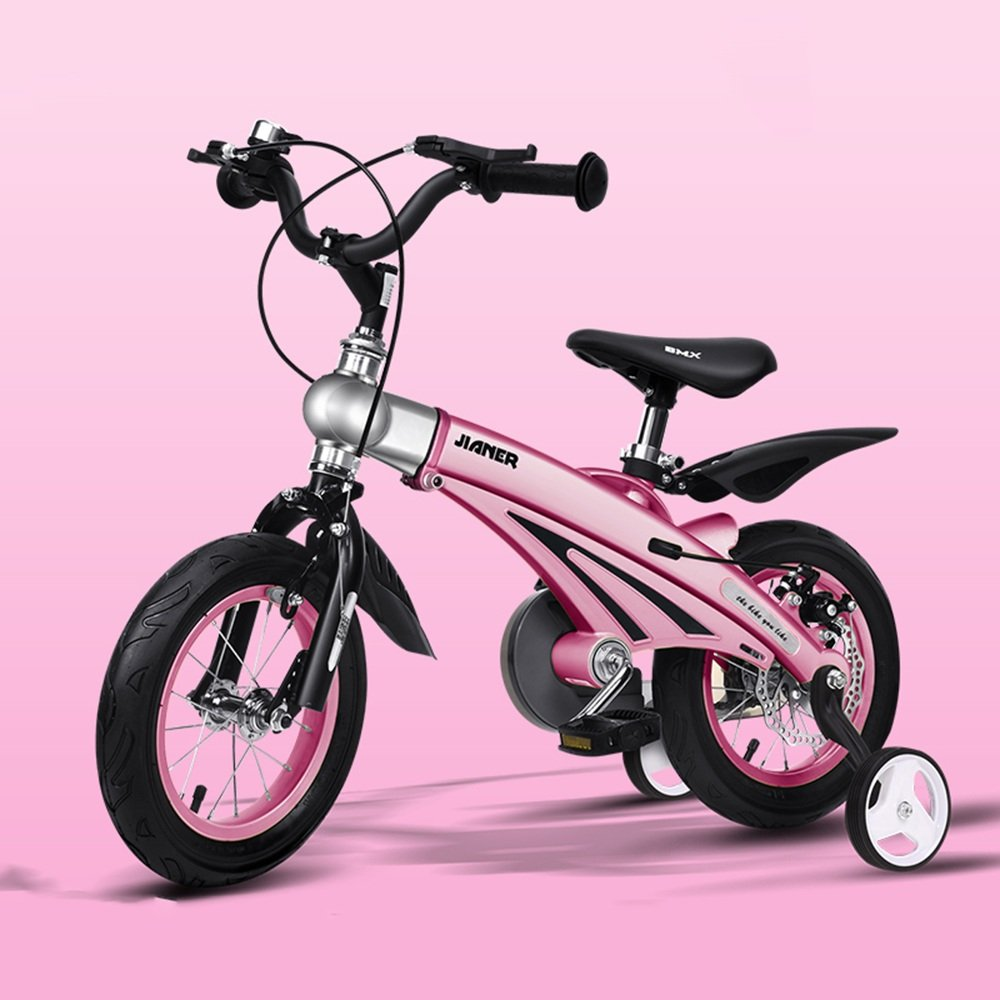 YANGFEI 子ども用自転車 子供の自転車男の子の女の子の自転車12/14/16インチ乳母車マウンテンバイク子供の自転車拡張長マグネシウム合金 212歳 B07DWZJDSP 14 inch|ピンク ぴんく ピンク ぴんく 14 inch