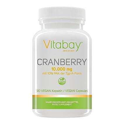 Extracto de arándano 10,000 mg con 10% PAC (proanthocyanidides) - 90 cápsulas veganas
