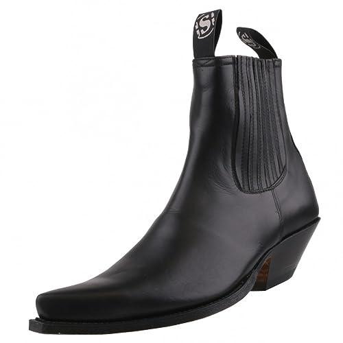 Sendra Stiefelette 1692 schwarz: : Schuhe & Handtaschen