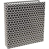 American Crafts Project Life Album 6 X 8 Black Pattern (6 Pack)
