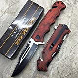 Tac Force GStore Vintage Wooden Handle Pocket Hunting Tactical hunting Handy Knife