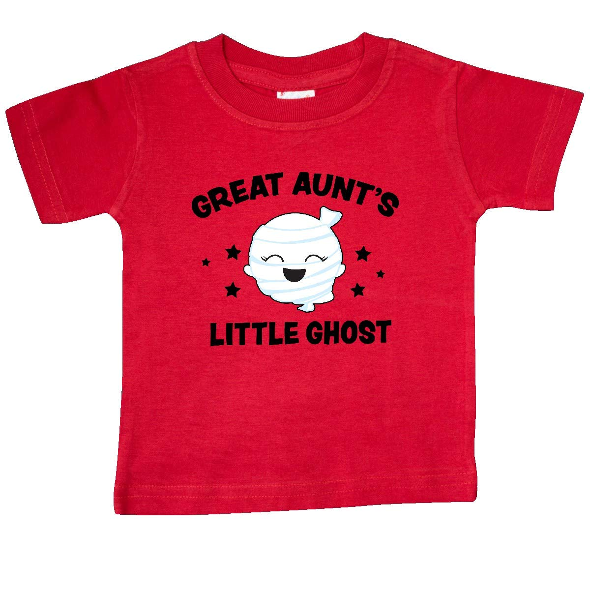 inktastic Cute Great Aunts Little Ghost with Stars Baby T-Shirt