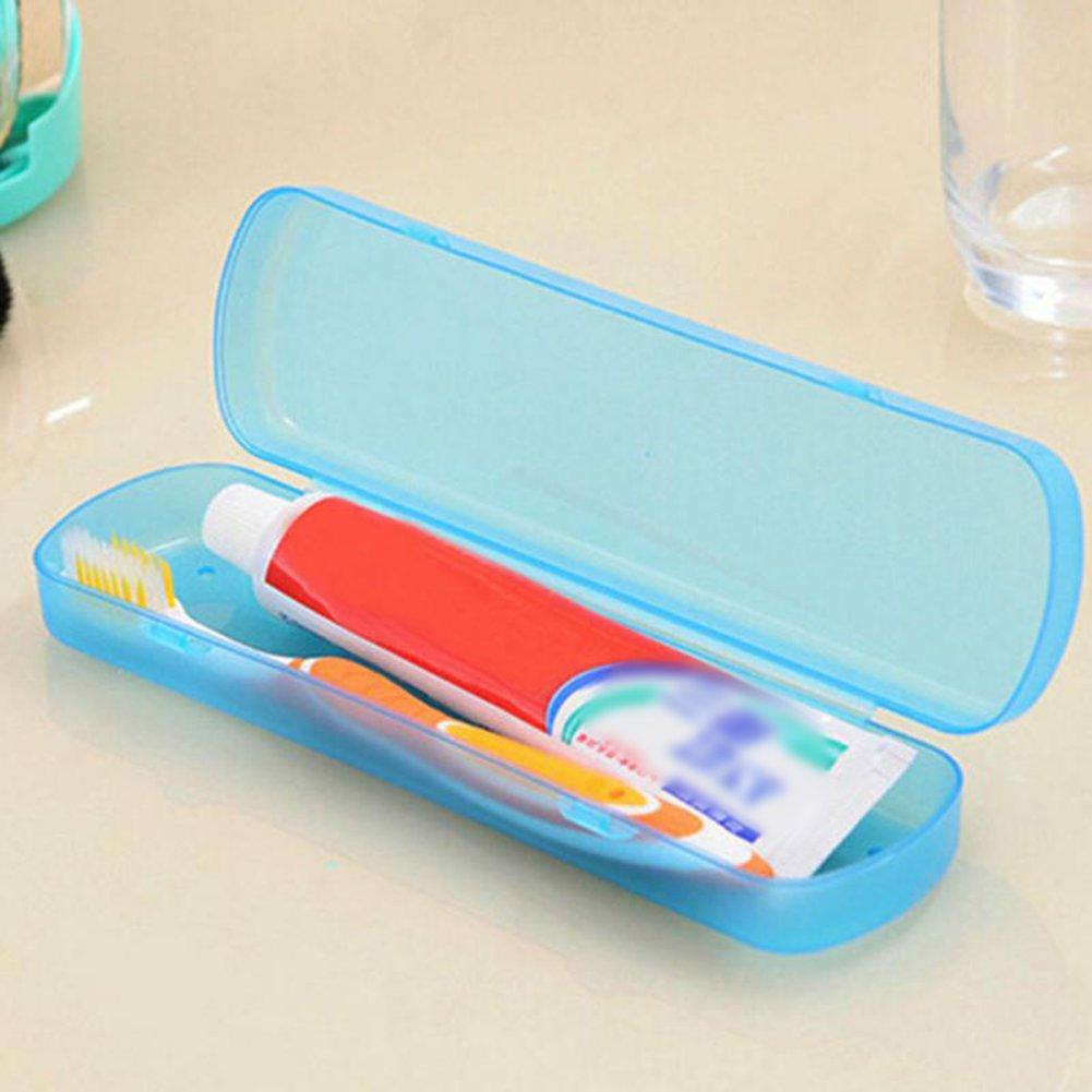 5.6 3.3cm (Azul) Dosige Caja de Pasta de Dientes Cepillo de Dientes,Caja de Almacenamiento,Caja de Lavado de Viaje,Caja de Almacenamiento de pl/ástico Size 21