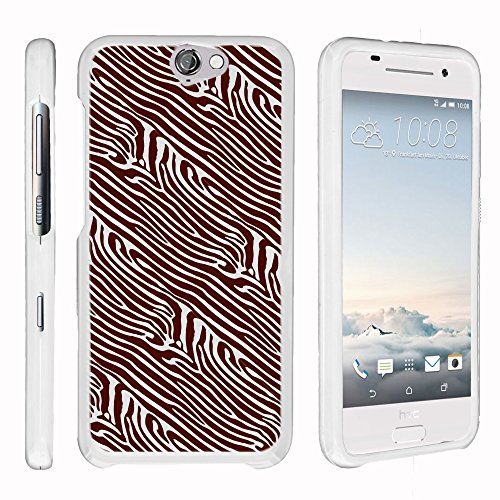 HTC ONE A9 White Phone Case, Snap on Perfect Fit Cell Hard Phone Cover with Cute Animal Patterns for HTC ONE A9 by Miniturtle - Abstract Zebra Pattern