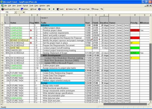 EasyProjectPlan (Excel Project Plan)