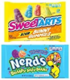 jelly beans sweet tarts - SweeTarts Easter Sour Bunny Gummies - 11oz with Nerds Easter Bumpy Jelly Beans - 13oz