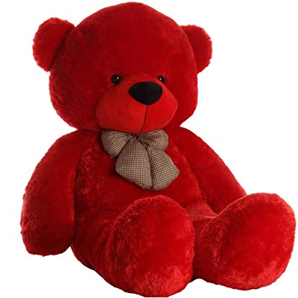 Click4deal Soft Teddy Bear 4 Feet - Red (122 cm)