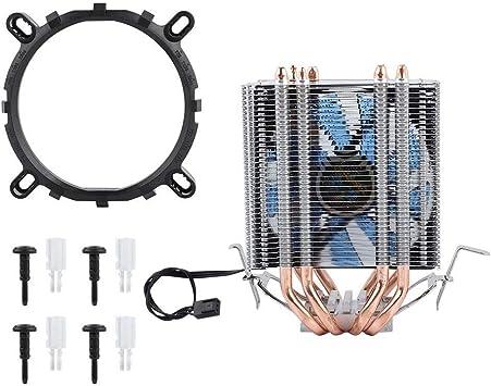 Diyeeni 4 Heat Pipe CPU Ventilador Radiador, Enfriador del ...