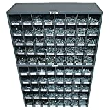 NEF Hex Nut, Lock Washer, Cap Screw (Bolt), Lock Nut Assortment, Grade 5 Coarse (USS) Fasteners, Two 40 Hole Bins, 3105 Pieces Plus 20 Pounds of Flat Washers