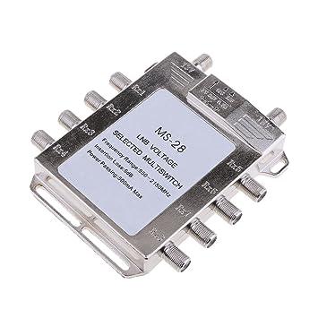 Homyl 1 pc de Switch con 8 salida Multi JS-MS28 Video Cable Coaxial Señal