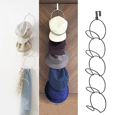 sobre la puerta sombreros para gorras de béisbol, sombrero colgante titular bandeja estante exhibición vertical del colgador bufanda metal organizador ...