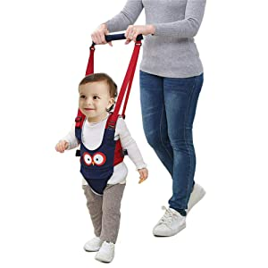 Hand-held Baby Walker Toddler Walking Assistant Helper Kid Safe Walking Protective Belt Child Harnesses Learning Assistant (Blue)