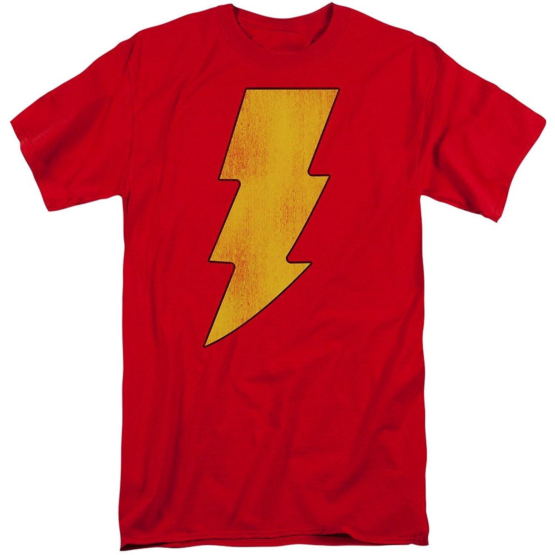 DC Comics Men's Shazam Logo Distressed Tall T-Shirt