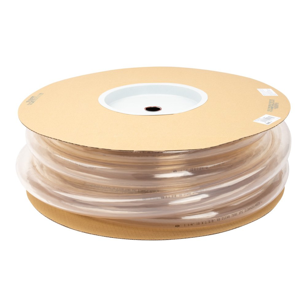 1-1/4'' X 1-5/8'' Clear Vinyl Tubing by LDR | Durable, Non- Toxic, 50-Foot Spool