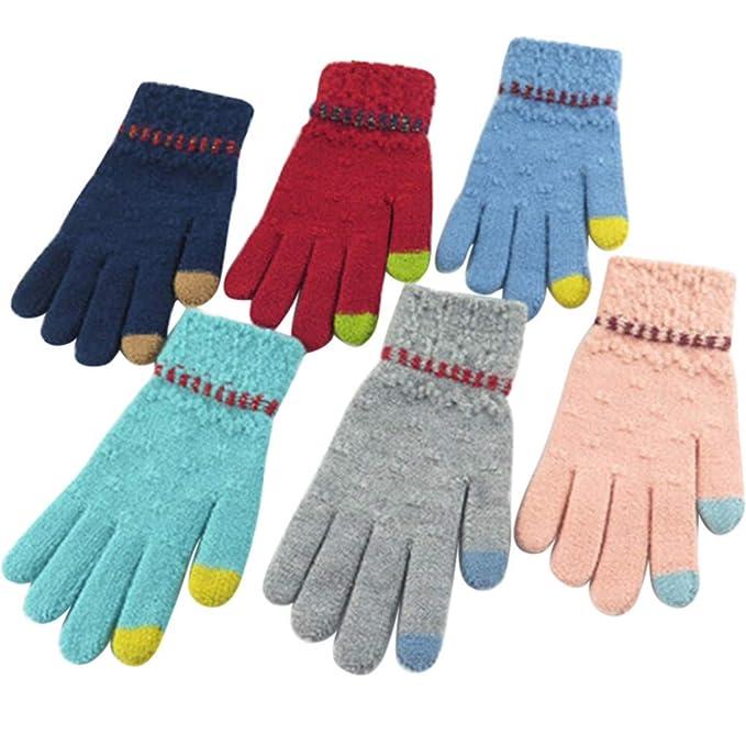 BHYDRY Hombres de Las Mujeres Pantallas de Punto de Invierno de múltiples Funciones Soft Warm Mitten: Amazon.es: Ropa y accesorios