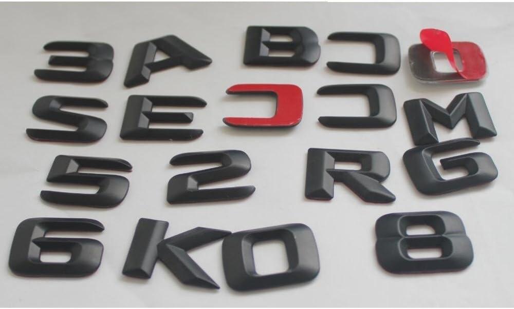 4MATIC chisushangm 3D Mat Noir Coffre arri/ère Lettres Mots num/éro Badge embl/ème Autocollant