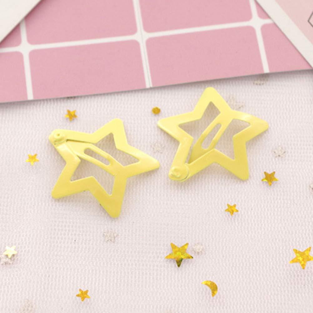 Lurrose 6 Paia per Capelli Fermagli per Capelli Stella forcine pinze Accessori per Capelli per Bambina
