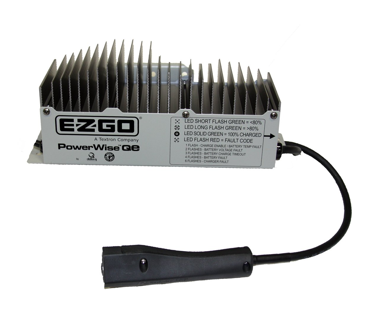 ez go golf cart battery charger flashing red