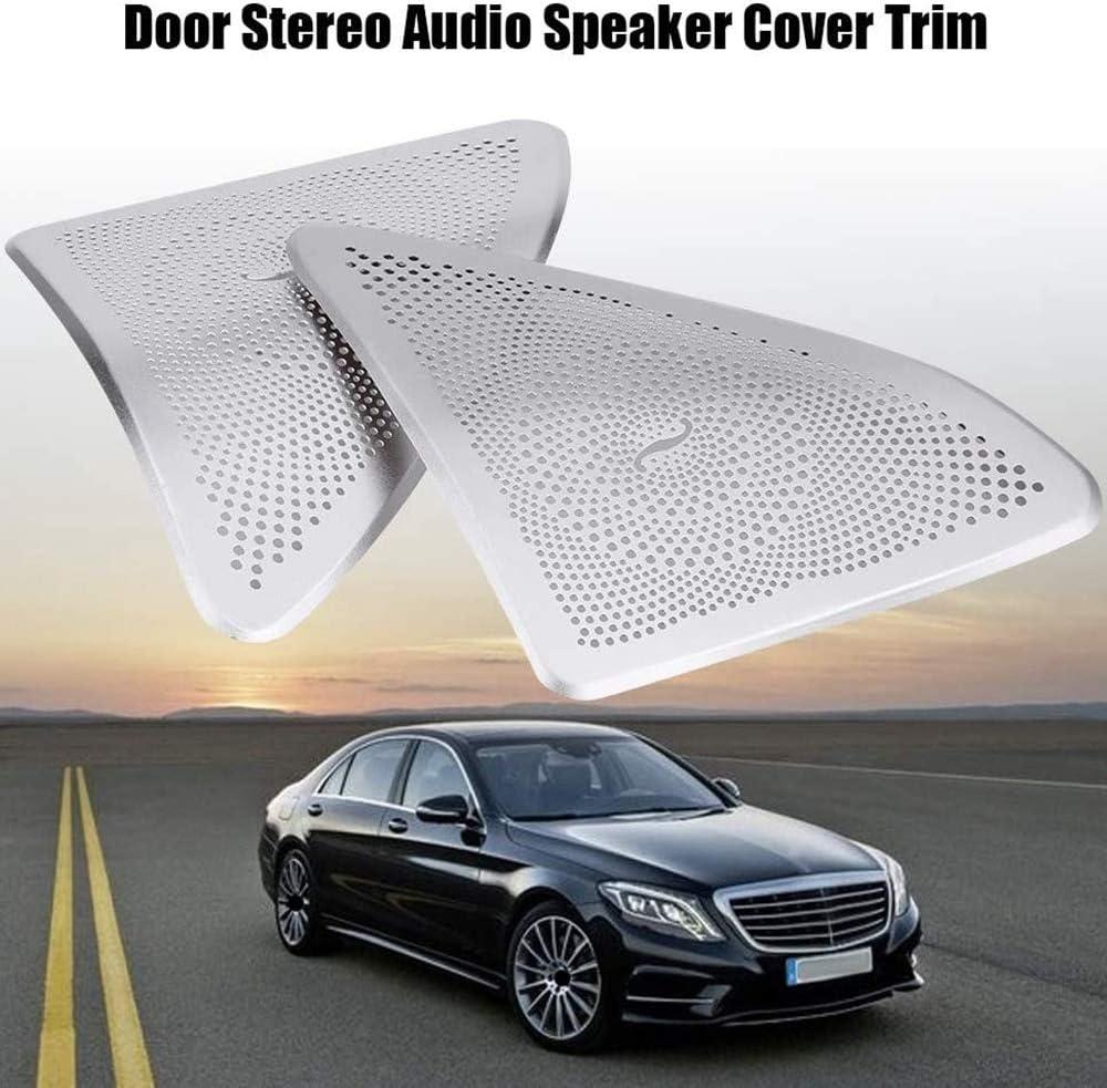 Monland Rivestimento Copertura Telaio Altoparlanti Stereo per Portiera Auto per Mercedes Classe S W222 2014-2017