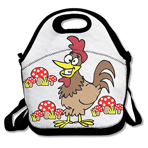 [Oery Happy Rooster Cooler Lunch Bag Outdoor Picnic Bag] (Flash Gordon Costume Amazon)