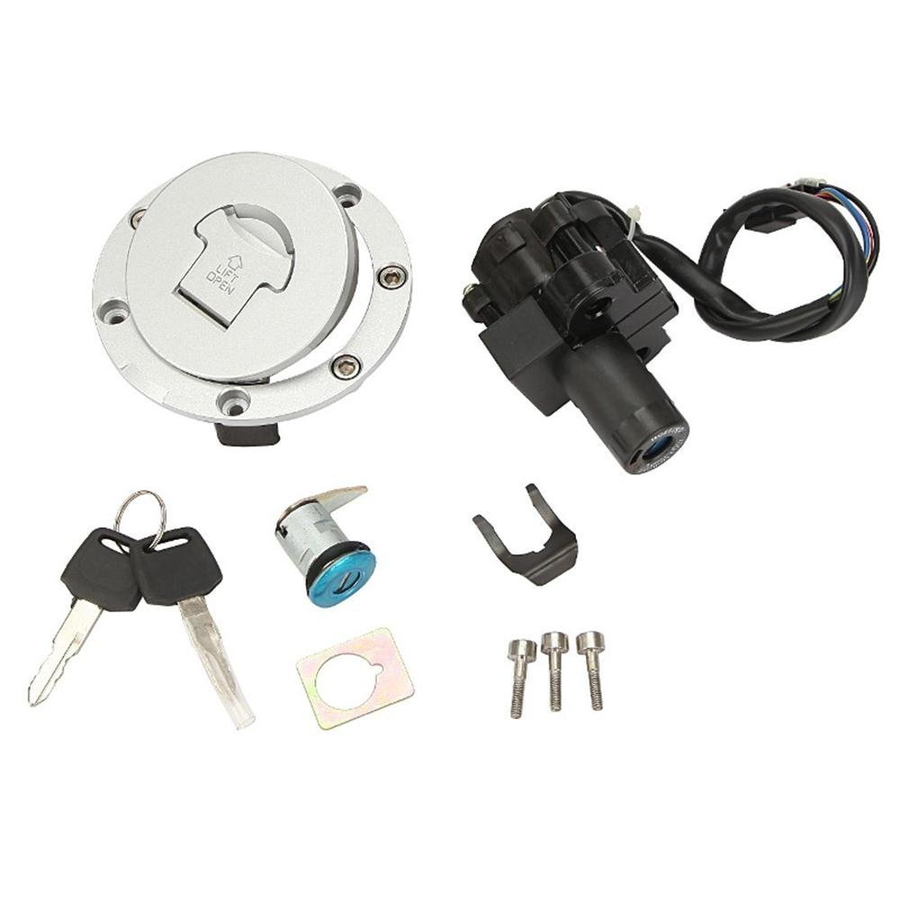 Etbotu Motorcycle Seat Lock Ignition Switch Fuel Gas Cap Lock Key Set for Honda CBR600 2007-2014