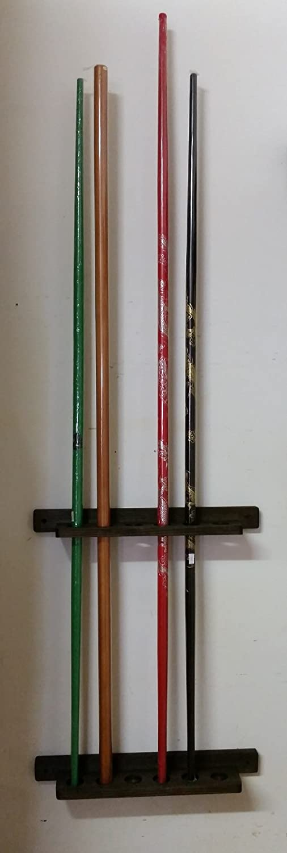 Amazon.com: JM madera de color negro 8 BO Staff Rack soporte ...