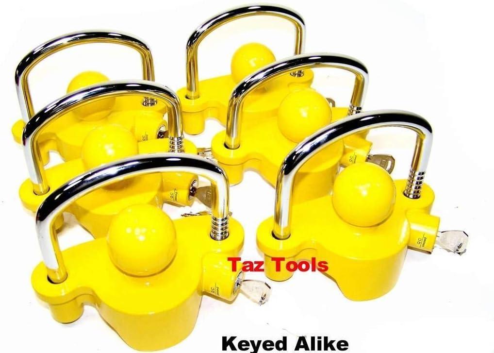 "6pc Hitch Lock Universal Coupler Trailer Lock fits 1-7//8/"" 2/"" 2-5//16/"" Keyed Alike"
