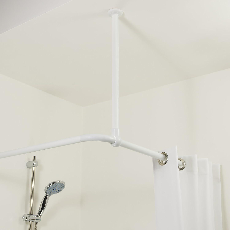 bianco 60/x 2,8/x 2,8/cm diametro 28/mm alluminio Sealskin 276668610/supporto da soffitto per tenda doccia aste