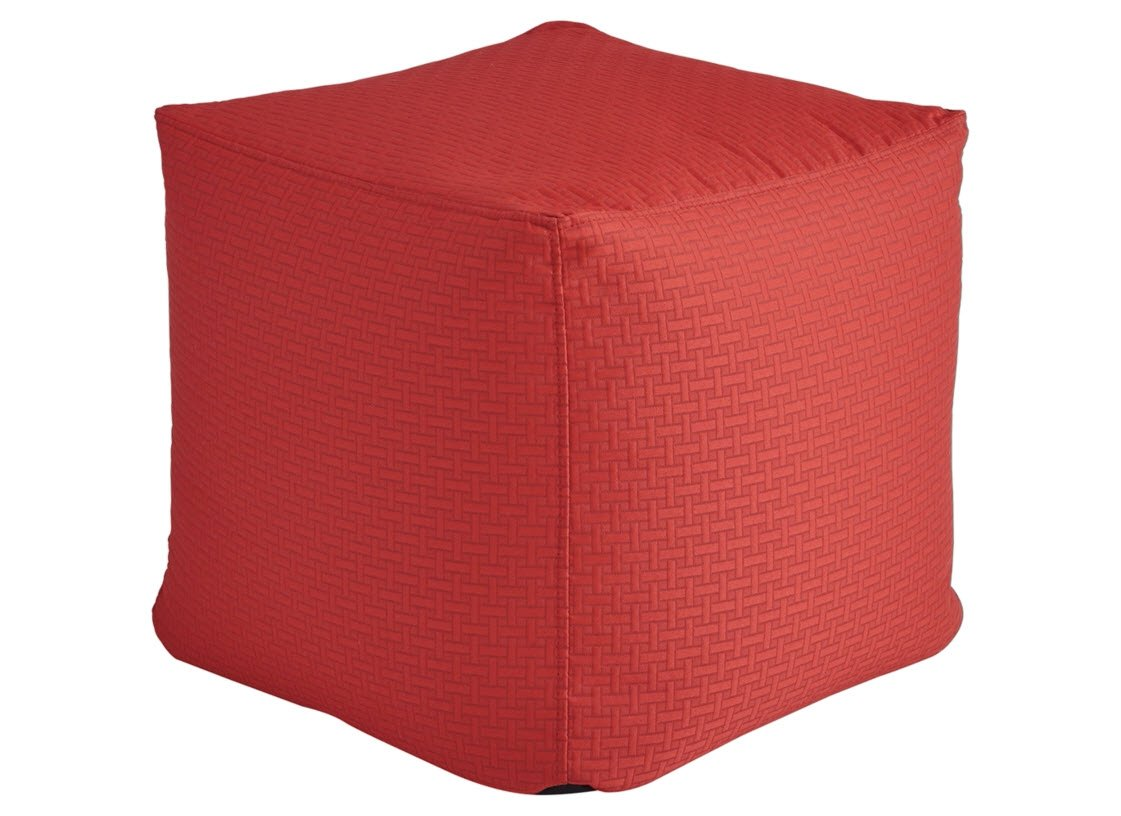 Ashley Furniture Signature Design - Sylas Pouf - Comfortable Footrest & Ottoman - Contemporary - Red